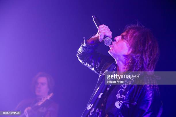 John Leven and Joey Tempest of Europe performs at the Olympia Theatre on September 12 2018 in Dublin Ireland