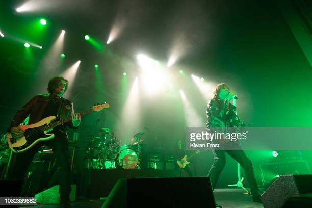 John Leven John Norum and Joey Tempest of Europe performs at the Olympia Theatre on September 12 2018 in Dublin Ireland