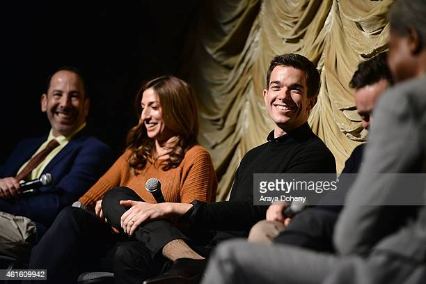 John Levenstein Chelsea Peretti and John Mulaney attend the Film Independent at LACMA screening and QA of 'Kroll Show' at Bing Theatre At LACMA on...