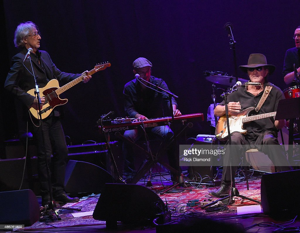John Leventhal and Tony Joe White perform during Rosanne Cash 'The River And The Thread' During Her First Artist-in-Residence Show at The Country Music Hall of Fame and Museum on September 2, 2015 in Nashville, Tennessee.