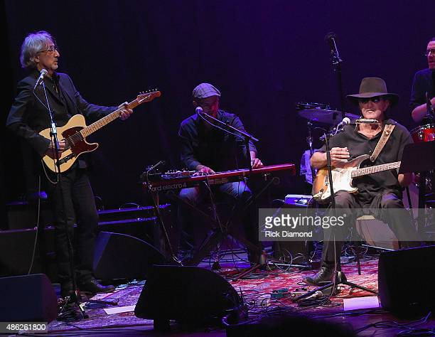 John Leventhal and Tony Joe White perform during Rosanne Cash 'The River And The Thread' During Her First ArtistinResidence Show at The Country Music...