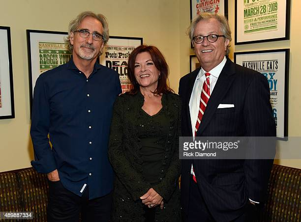 John Leventhal Rosanne Cash and Kyle Young Director/CEO CMHOF backstage before Rosanne Cash and Special Guest John Leventhal perform During Her Final...