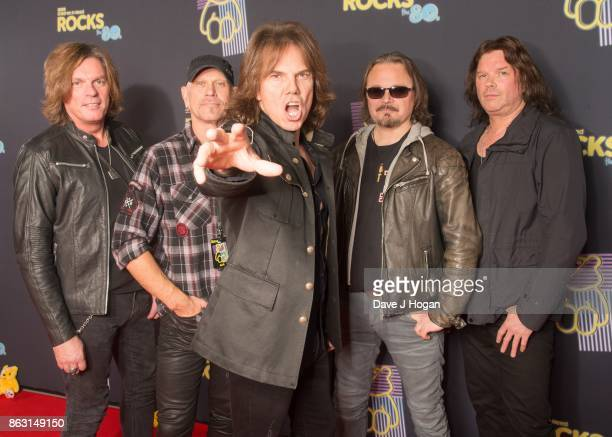 John Levin, Ian Haugland, John Norum, Joey Tempest, and Mic Michali of Europe is pictured at BBC Children in Need Rocks the 80s at SSE Arena on...