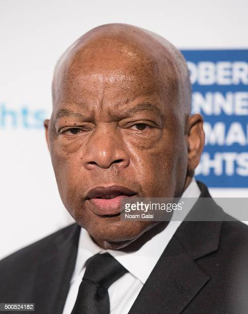 John Lewis attends the Robert F Kennedy human rights 2015 Ripple of Hope awards at New York Hilton Midtown on December 8 2015 in New York City