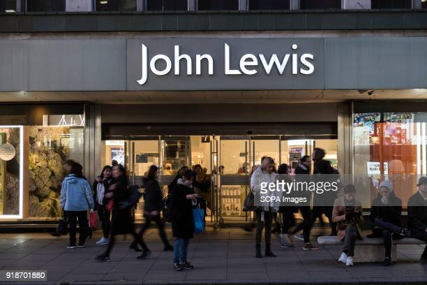 John Lewis store seen in London famous Oxford street Central London is one of the most attractive tourist attraction for individuals whose willing to...