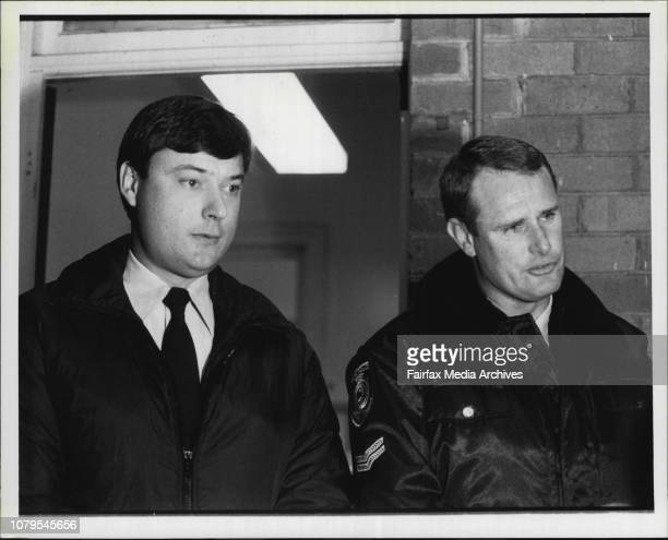 John Lewthwaite after his recapture at Wyong police stationThe two highway police who recaptured LewthwaiteL to R John Cuthbert amp Peter Royall...