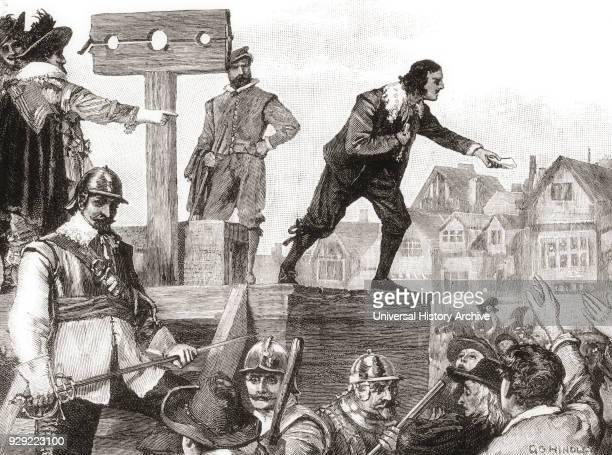 John Lilburne on the pillory arrested for printing and circulating unlicensed books. John Lilburne, 1614 – 1657, aka Freeborn John. English political...