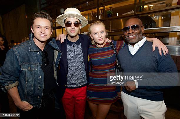 John LindahlDJ CassidyZara Larsson and LA Redi pose for a photo at the LA Reid 'Sing To Me' PreGrammy Brunch at Hinoki The Bird on February 13 2016...