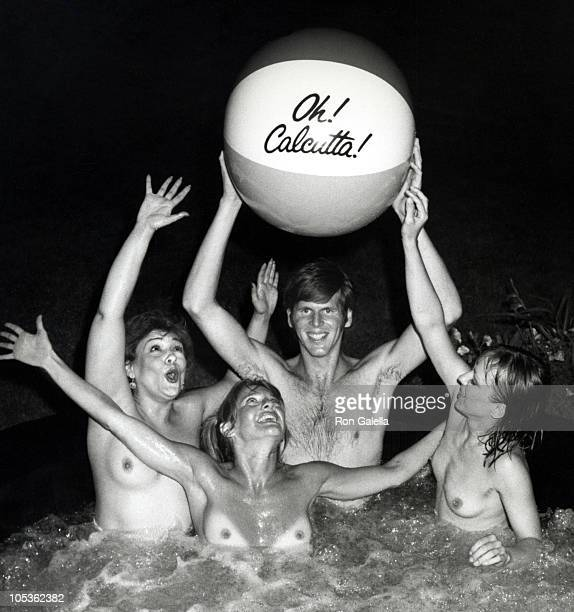 John Lindsay Jr and Cast of Oh Calcutta during Home of Producer Norman Keans Celebrating 12th Anniversary of Oh Calcutta at Montauk in Mantauk Long...