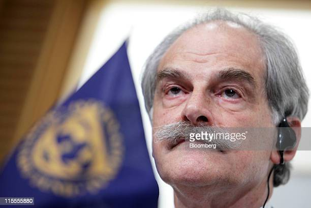 John Lipsky acting managing director of the International Monetary Fund speaks during a news conference in Tokyo Japan on Wednesday June 8 2011 The...