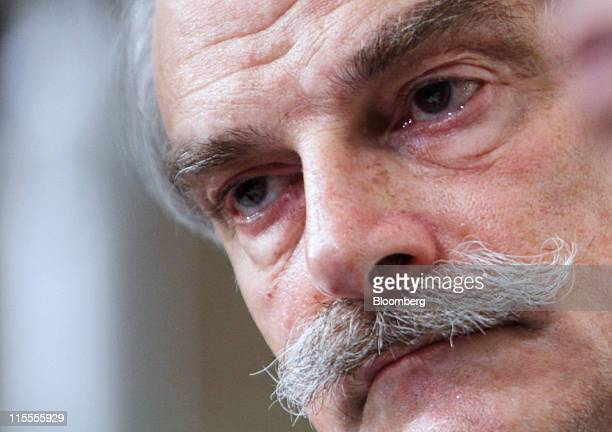 John Lipsky acting managing director of the International Monetary Fund pauses during a news conference in Tokyo Japan on Wednesday June 8 2011 The...