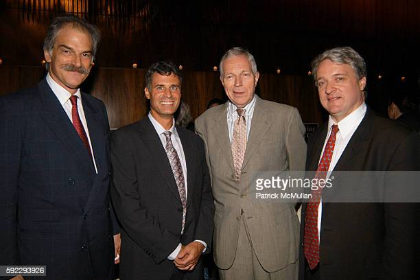 John Lipsky, Alan Kruger, Edmund Phelps and John Ryding attend Book Party for FLYING ON ONE ENGINE, edited by Thomas R. Keene at The Four Seasons on...