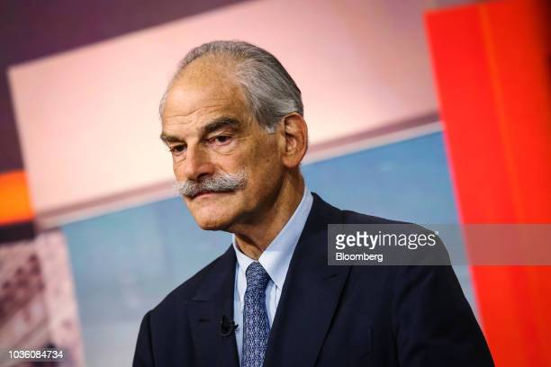 John Lipsky distinguished visiting scholar at John Hopkins University speaks during a Bloomberg Television interview in New York US on Wednesday Sept...