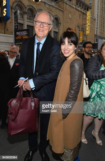 John Lithgow and guest attend the opening night for 'Carousel' on Broadway at Imperial West on April 12 2018 in New York City