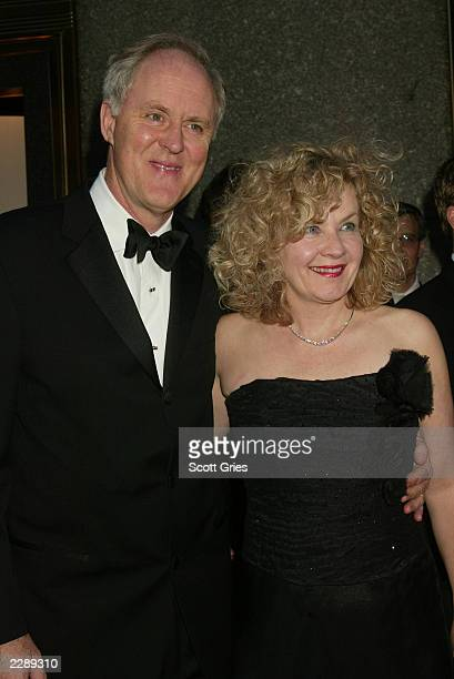 John Lithgow and his wife Mary Yeager arrive for the 56th Annual Tony Awards at Radio City Music Hall New York City June 2 2002 Photo by Scott...