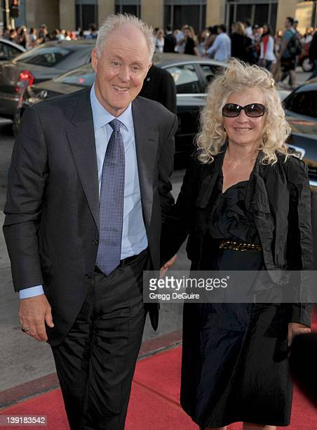 John Lithgow and Mary Yeager arrive at the Los Angeles Premiere of Rise Of The Planet Of The Apes at the Grauman's Chinese Theatre on July 28 2011 in...