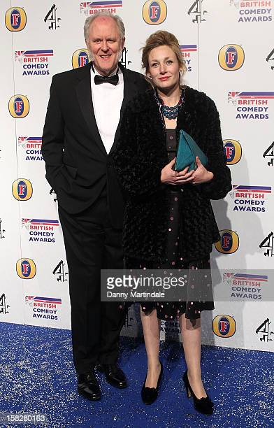 John Lithgow and Mary Yeager attends the British Comedy Awards at Fountain Studios on December 12 2012 in London England