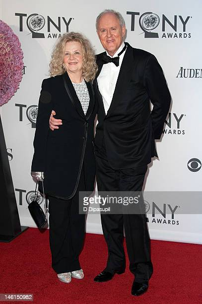 John Lithgow and wife Dr Mary Yeager Lithgow attend the 66th Annual Tony Awards at the Beacon Theatre on June 10 2012 in New York City
