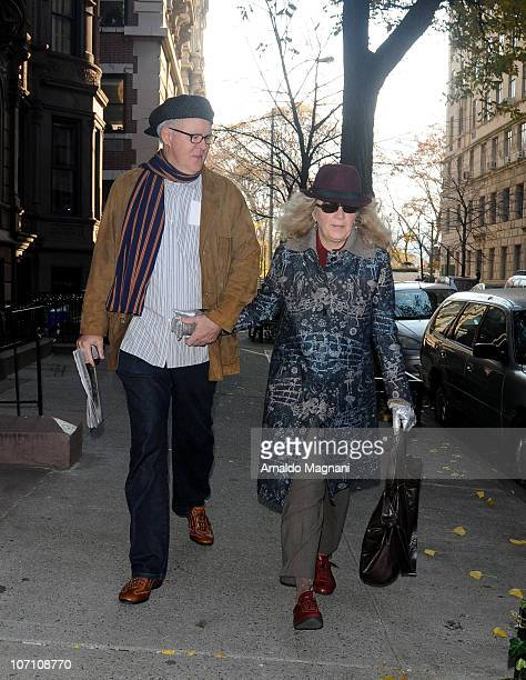 John Lithgow and wife Jean Taynton go shopping on 80th St West side on November 24 2010 in New York City