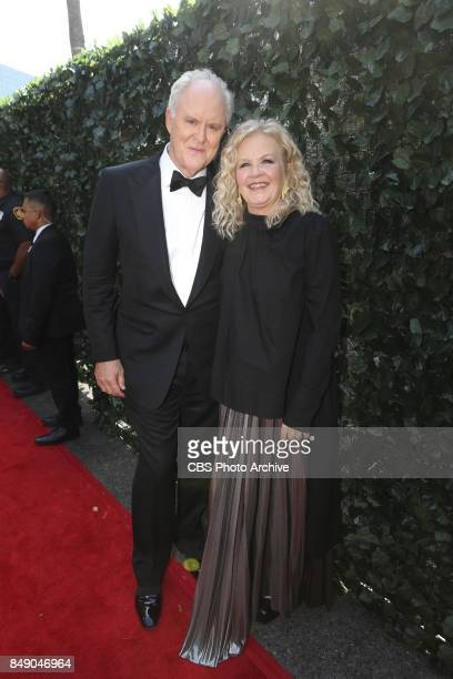 John Lithgow and wife Mary Yeager arrive on the red carpet at the 69TH PRIMETIME EMMY AWARDS LIVE from the Microsoft Theater in Los Angeles Sunday...