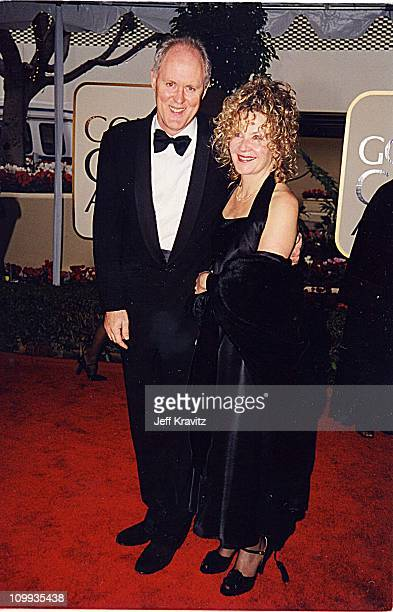 John Lithgow and wife Mary Yeager during 1999 Golden Globe Awards in Los Angeles California United States