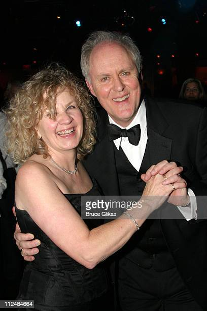 John Lithgow and wife Mary Yeager during Opening Night Curtain Call and Party for Dirty Rotten Scoundrels on Broadway at Imperial Theater thenThe...
