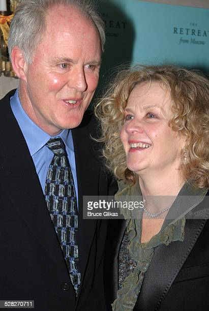 John Lithgow and wife Mary Yeager during The Retreat From Moscow Opening on Broadway at Laura Belle Supper Club in New York City New York United...