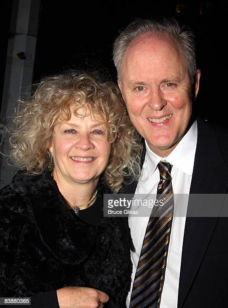 John Lithgow and wife Mary Yeager pose at the after party for the opening night of the revival of Arthur Miller's All My Sons on Broadway at espace...