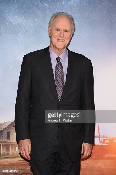 John Lithgow attends the 'Interstellar' New York premiere at AMC Lincoln Square Theater on November 3 2014 in New York City