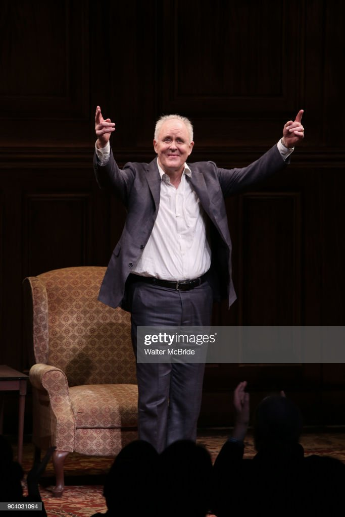 John Lithgow during the Broadway Opening Night Performance Curtain Call of 'John Lithgow: Stories by Heart' at the American Airlines Theatre on January 11, 2018 in New York City.