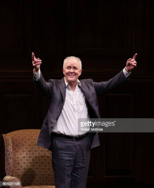 John Lithgow during the Broadway Opening Night Performance Curtain Call of 'John Lithgow Stories by Heart' at the American Airlines Theatre on...