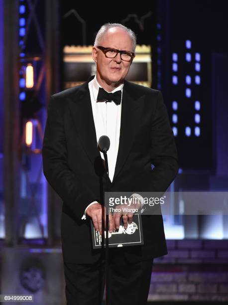 John Lithgow speaks onstage during the 2017 Tony Awards at Radio City Music Hall on June 11 2017 in New York City