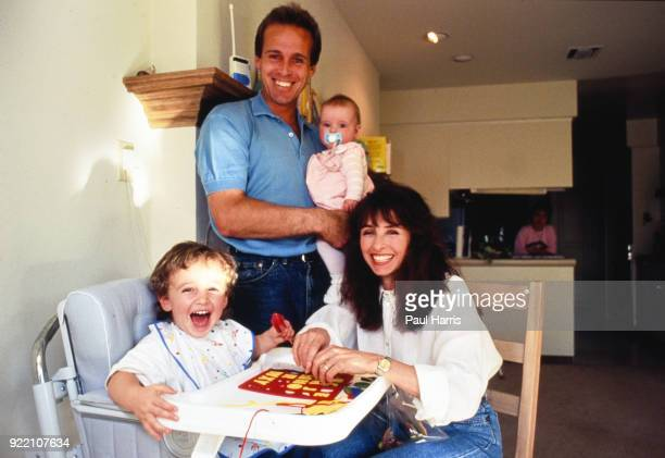 John Lloyd with his 2nd wife Deborah who he married after divorcing Chris Evert They are with their children Aiden and Hayley May 16 1991 when they...