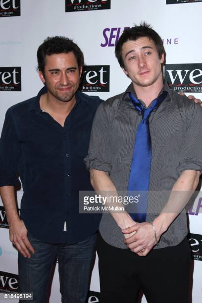 John Lloyd Young Alex Frost attend WET Presents LOVE A Benefit to Support WET's 10th Season at The Angel Orensanz Foundation on February 9 2009 in...