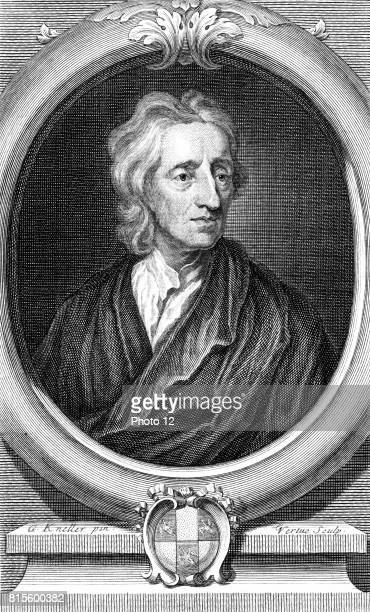John Locke English philosopher Engraving by Vertue after portrait by Kneller