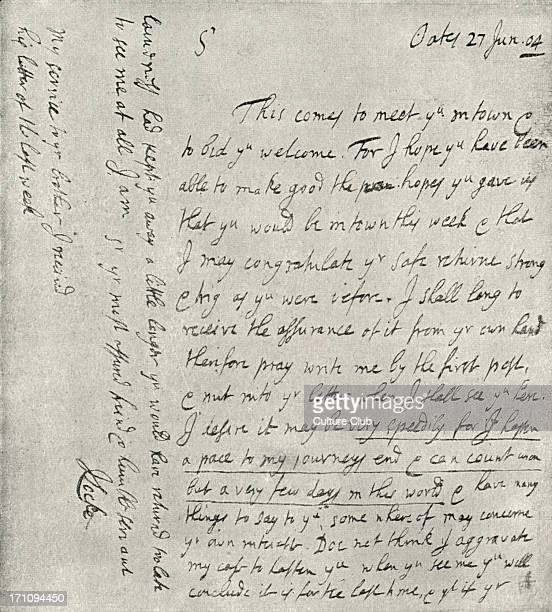 John Locke 's autograph letter dated 27 June 1704 from his home at Oates English philosopher 29 August 1632 28 October 1704