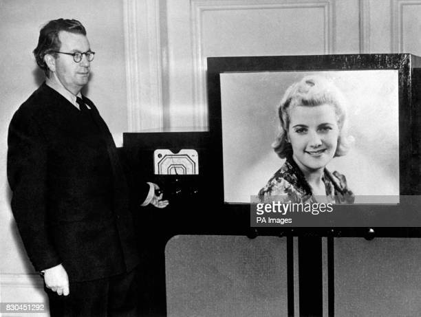 John Logie Baird pioneer of television has perfected his latest invention for showing television pictures in full natural colours