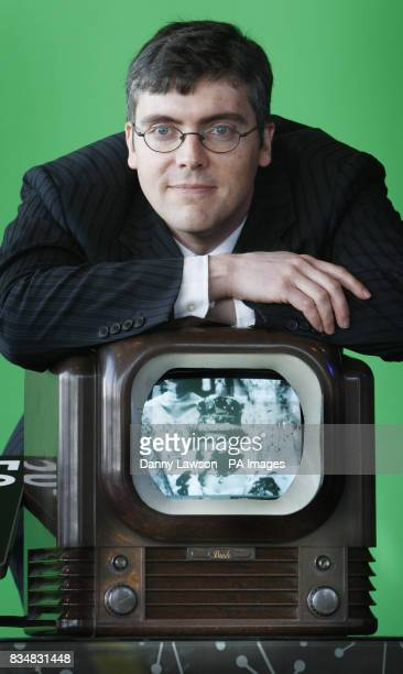 John Logie Baird's grandson Iain Logie Baird during the launch of a competition to find Scotland's oldest working television which was officially...