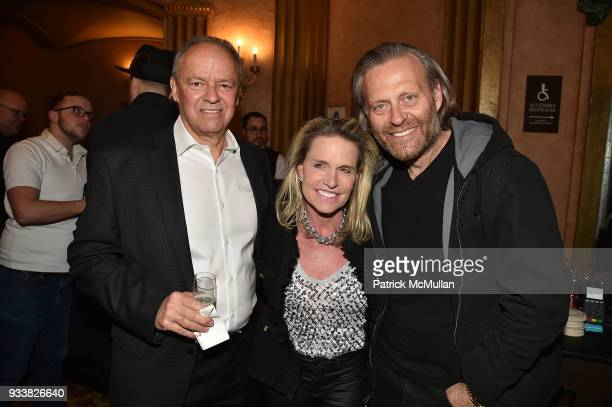 John Lombard Jennifer Post and Mike Rechter attend Love Rocks NYC VIP Rehearsal Cocktail at Beacon Theatre on March 14 2018 in New York City John...
