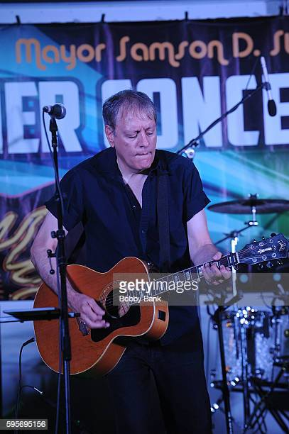 John Lombardo of 10000 Maniacs perform 10000 Manics The Smithereens In Concert at Union County Performing Arts Center on August 25 2016 in Rahway New...