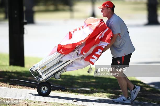John Longmire senior coach during a Sydney Swans AFL training session at Lakeside Oval on December 07, 2020 in Sydney, Australia.