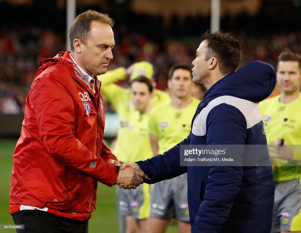 AFL 2017 Second Semi Final - Geelong v Sydney : News Photo
