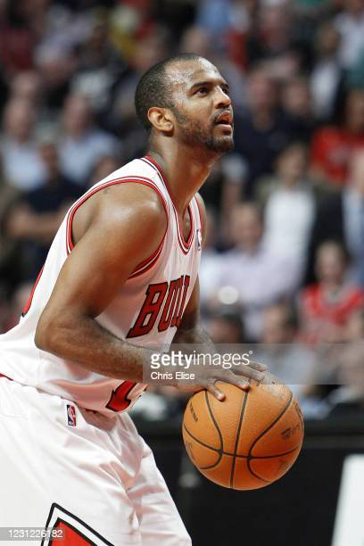 John Lucas III of the Chicago Bulls shoots a free throw during the game against the Miami Heat on March 14, 2012 at the United Center, Chicago,...