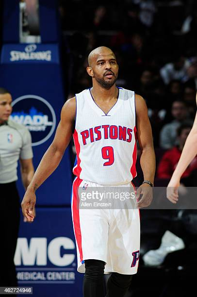 John Lucas III of the Detroit Pistons during the game against the Miami Heat on February 3 2015 at Palace of Auburn Hills in Detroit Michigan NOTE TO...
