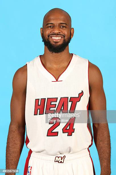 John Lucas III of the Miami Heat poses for a portrait during the 2015 Media Day on September 28 2015 at the American Airlines Arena in Miami Florida...