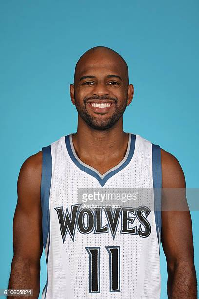 John Lucas III of the Minnesota Timberwolves poses for a head shot during the 20162017 Minnesota Timberwolves Media Day on September 26 2016 at...