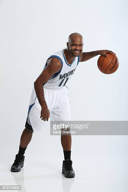 John Lucas III of the Minnesota Timberwolves poses for a portrait during the 2016 2017 Minnesota Timberwolves Media Day on September 26 2016 at...