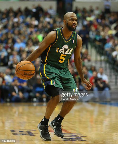 John Lucas III of the Utah Jazz at American Airlines Center on February 7 2014 in Dallas Texas NOTE TO USER User expressly acknowledges and agrees...