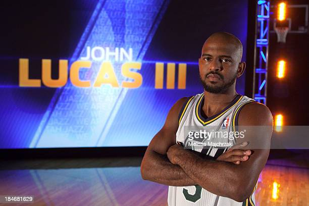 John Lucas III of the Utah Jazz poses for a photo during 2013 Video Media Day at Energy Solutions Arena on October 14, 2013 in Salt Lake City, Utah....