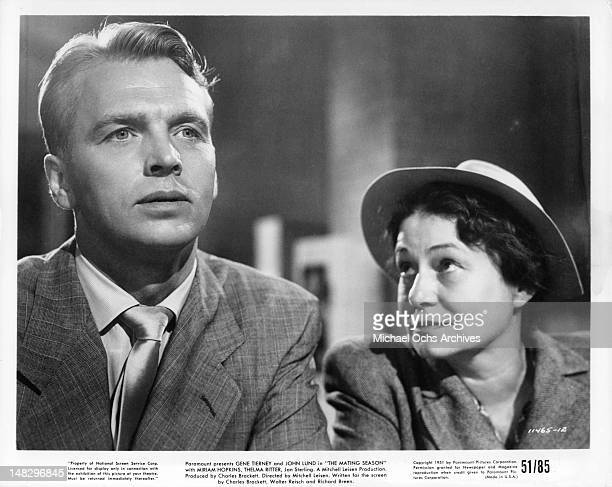 John Lund and Thelma Ritter in a scene from the film 'The Mating Season' 1951